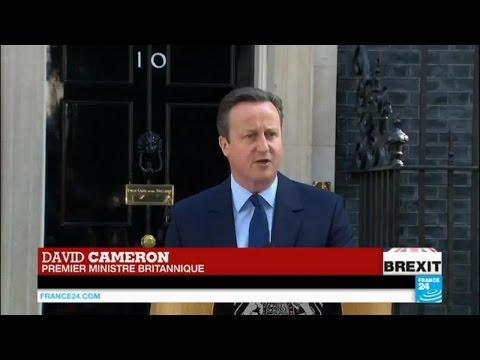Brexit : le premier ministre David Cameron s'exprime sur la sortie de l'UE