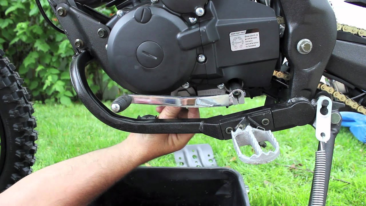 how to change the oil of a gio x31 250cc dirt bike