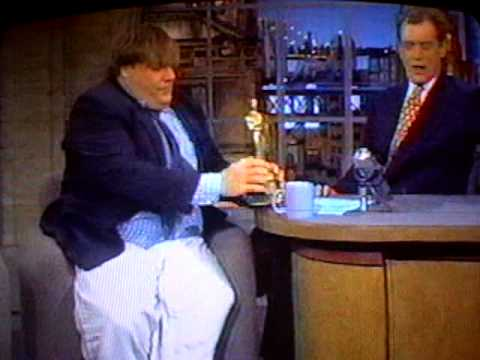 Chris Farley on Letterman 1995 - Cartwheel entrance!