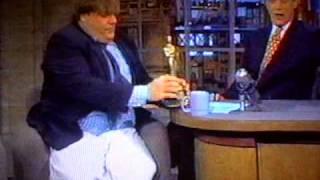 Chris Farley on Letterman 1995 - Cartwheel entrance!