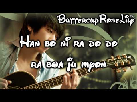 *♥ Jung Yong Hwa - Because I'm a Fool - Lyrics ♥*