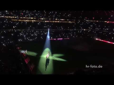 FC BAYERN -  SC Freiburg 16.12.2014 Lasershow Allianz Arena