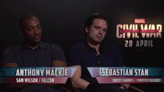 Falcon and The Winter Soldier brag about doing their own stunts