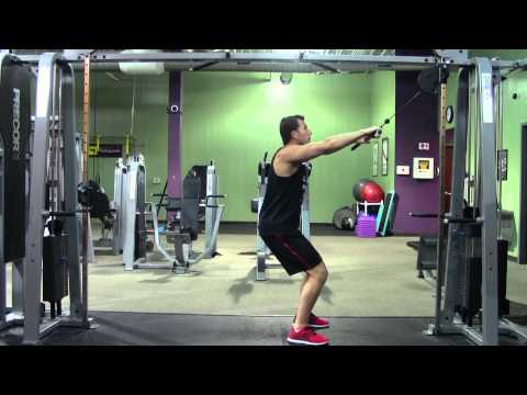 Straight Arm Pulldown - HASfit Lat Exercise Demonstration - Cable Straight Arm Pulldowns Image 1