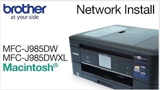 Installing MFCJ985DW or MFCJ985DWXL on a wired network - Macintosh® Version