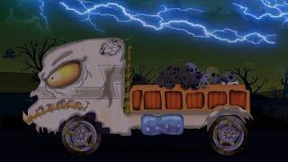 đáng sợ lorry Xe tải | xe hơi Nhà để xe | Xe tải cho trẻ em | Học xe | Scary Lorry Truck Car Garage
