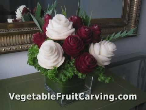 Fruit & Vegetable Carving Made Easy - Carve Hearts & Roses from Vegetables & Fruit