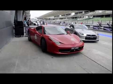 A Ferrari 458 Italia & Group of GTR