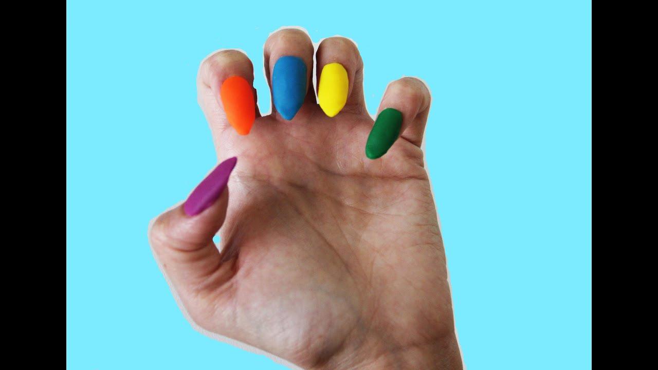 Как сделать ногти из пластилина 41