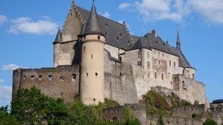Ardennes Luxembourg tourism video: Vianden Castle/ Château, Clervaux & Esch sur Sûre