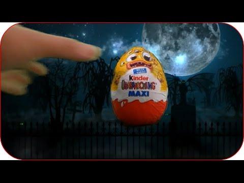 FLYING SURPRISE EGGS Maxi Halloween Surprise Eggs Kinder Jaja 2015 Unboxing Disney Collector