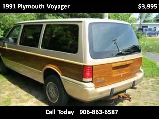 1991 Plymouth Voyager Used Cars Menominee MI