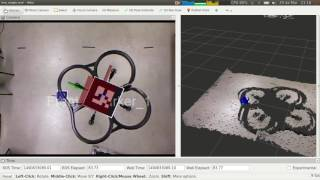 Tag detection with ar-track-alvar and dqrobotics - Drone test 2 (Bigger tags)