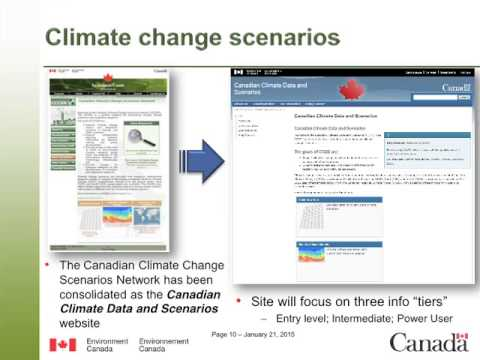 Environment Canada's Climate Data and Scenarios
