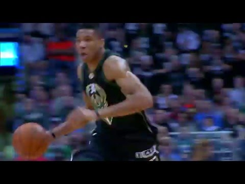 Giannis Antetokounmpo Huge Slam on Serge Ibaka!