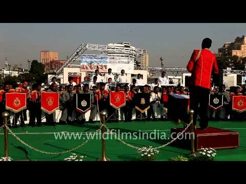 Indian police band playing Mera Joota hai Japani