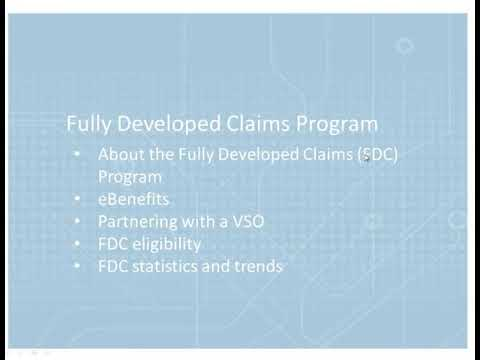 Veterans and the Fully Developed Claims (FDC) Program
