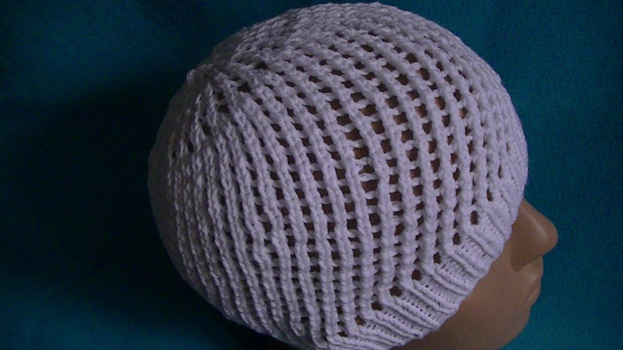 Вязание шапок на спицах круговых спицах 45