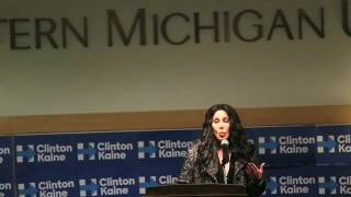 Cher rallies Clinton supporters in Kalamazoo