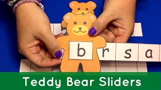 Teddy Bear Sliders For Preschool Learning Letters Numbers and Sight Words