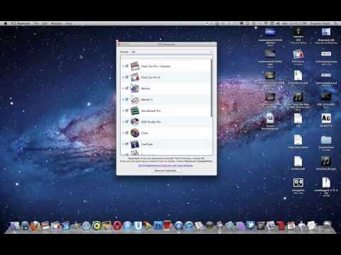 FCS Remover: Uninstall All Final Cut Studio Apps