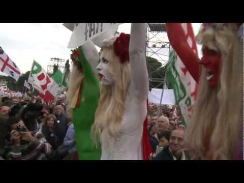 Femen Roma against Berlusconi