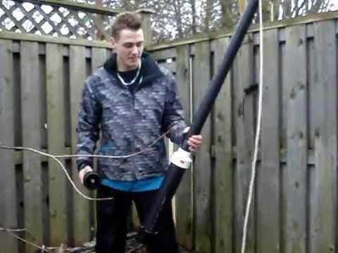How to install a Ham Radio Antenna using a Potato Canon - Redneck Canadian Style! # 1