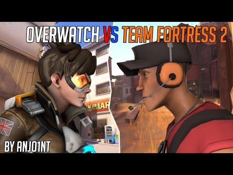 Сравнение персонажей TF2 и Overwatch