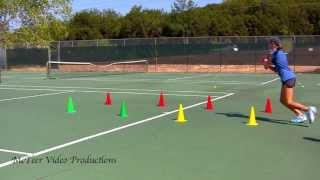 8 Cone Tennis Footwork Drill