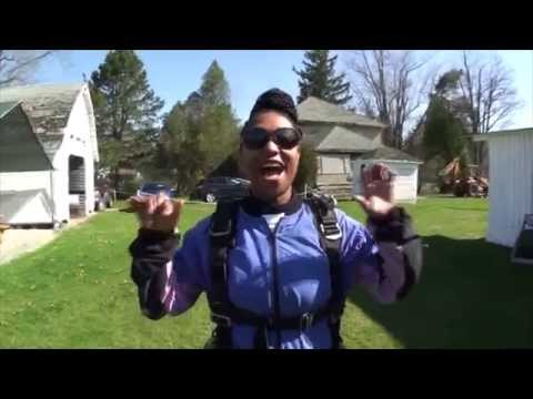 Monica Free Fall Full Video ( Skydiving For A Cause) video