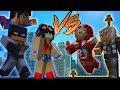 Minecraft JUSTICE LEAGUE vs AVENGERS Hide & Seek (Minecraft Superhero Mod)