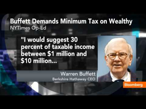 Buffett Demands Minimum Tax on Higher Incomes