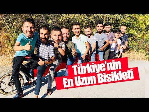 TURKIYENIN EN UZUN BISIKLETI ILE SUYA UÇTUK!