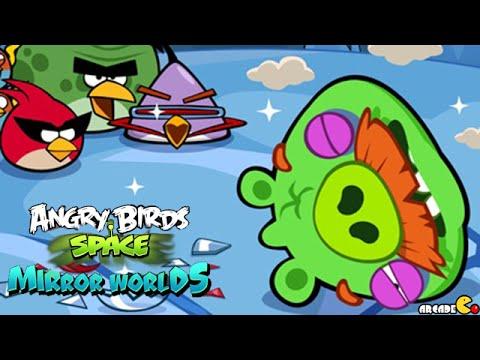 Angry Birds Space: Brass Hogs Level M9-5 Mirror World Walkthrough 3 Star