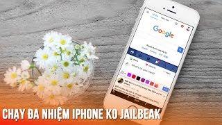 Chạy đa nhiệm chia đôi màn hình iPhone không Jailbreak -Multitasking on iPhone so easy now!