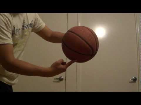 How to spin a basketball on one finger tutorial