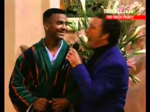 Tom  Jones and  Carlton (Alfonso Ribeiro) - It's not usual  (song)- Fresh prince of Bel Air