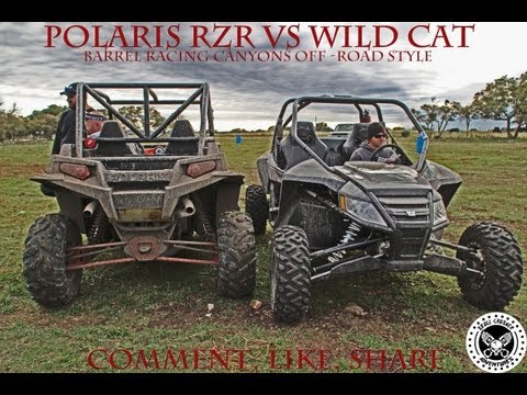 Polaris RZR XP 900 VS Arctic Cat WildCat 1000: Barrel Racing Canyons O