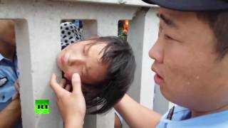 Getting into a tight place: 8yo rescued after having her head stuck in railway fence