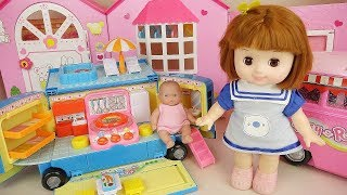 Baby doll kitchen bus camping car play baby Doli house