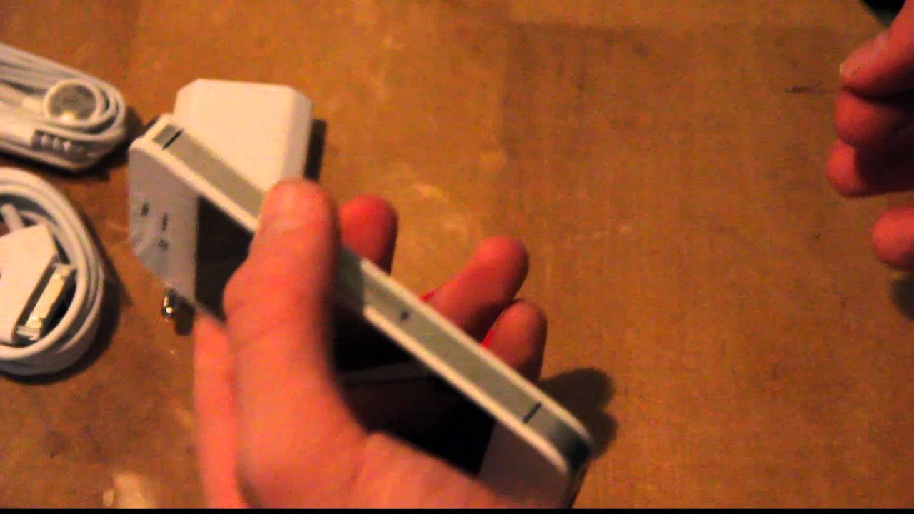how to take sim card out of iphone 4s