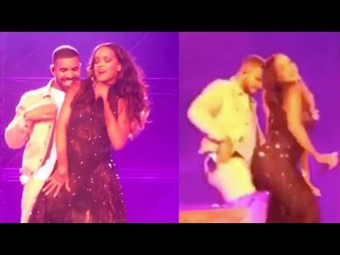 Rihanna & Drake Party Together For 2nd Night In A Row & Get SUPER Close On Stage