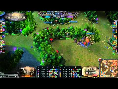 Dignitas vs Team SoloMid - Game 2 - Killing Spree - IPL League of Legends