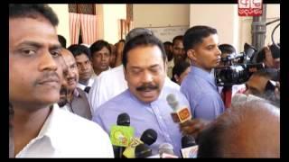 දිවිනැඟුම පුද්ගලික වුවමනාවක් නෙවෙයි - රටේ අවශ්යතාවක්  Mahinda visits Basil at Colombo National Hosp