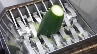 Making salad with FilaMaker Organic waste shredder.