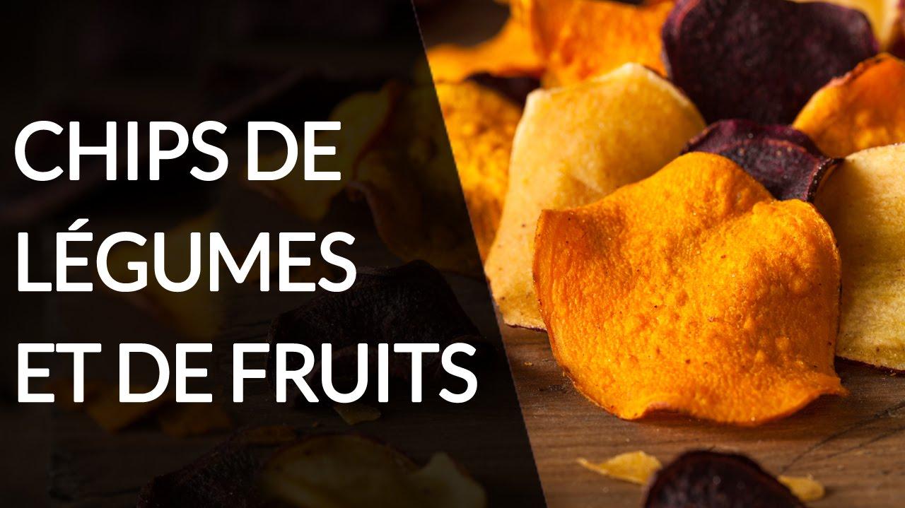 Chips de légumes et de fruits -  Recette Healthy