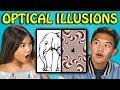 10 MIND BLOWING OPTICAL ILLUSIONS with TEENS (React)
