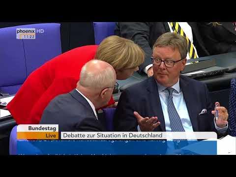 Bundestagsdebatte zur Situation in Deutschland am 05.09.17