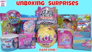 Num Noms Toys Surprises Unboxing LOL Pets Pikmi POPS Hatchimals 3 Disney Happy Place Fingerlings