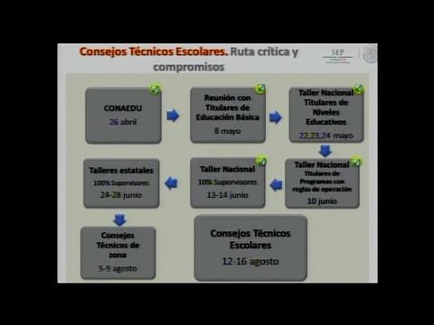 Consejos Técnicos Escolares. Organización General